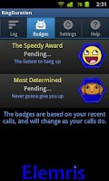 Screenshot of Ring Duration call timer