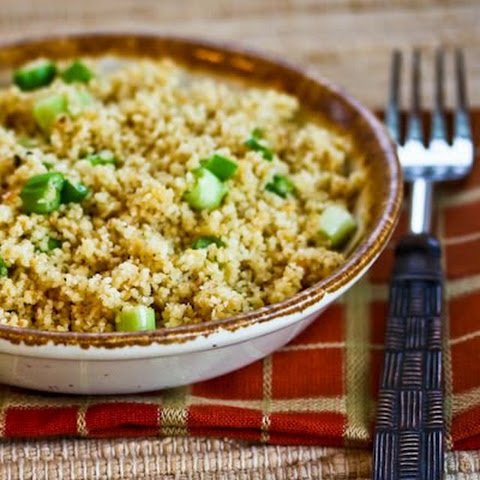 Whole Wheat Couscous Side Dish with Green Onions and Parmesan