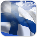 3D Finland Flag icon