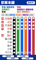 Screenshot of プチ路線図 京阪電車