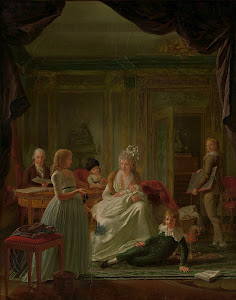 RIJKS: Nicolaes Muys: Portrait of Aernout van Beeftingh, his Wife Jacoba Maria Boon and their Children 1797