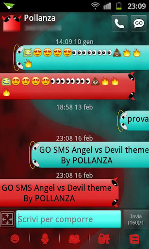 GO SMS Angel Vs Devil Theme
