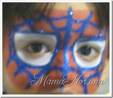 Maquillaje  Para Niños: Antifaz del hombre Araña… (Parte I)