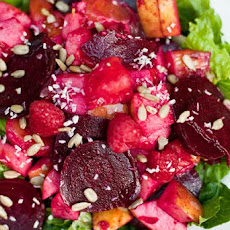 Beet, Apple, and Orange Salad in a Homemade Raspberry Vinaigrette
