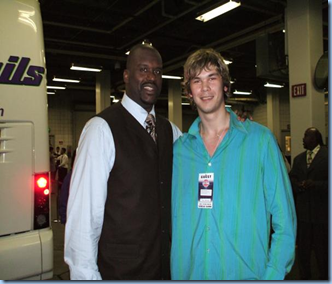Fesenko and Shaq when Fess was working @ IMG with David Thorpe