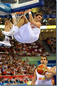 Spain's Rudy Fernandez and Jose Manuel Calderon display their worldclass athlethcism whenver they play