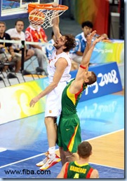 Gasol probably played his best game, in a game that counted, ever . . .