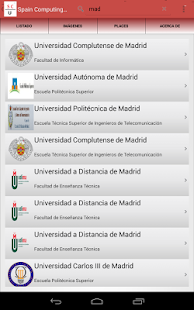 Spain computing university - screenshot