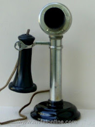 Candlestick Phones - American Electric Nickel 2 Candlestick Telephone 1