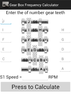 Gear Box Frequency Calculator - screenshot