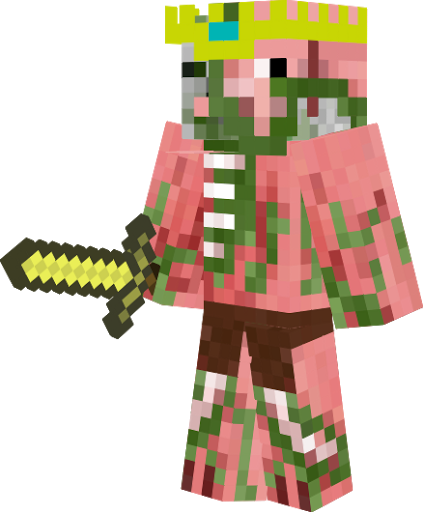 Wallpaper Minecraft Zombie Pigman - Skin para minecraft pe rey