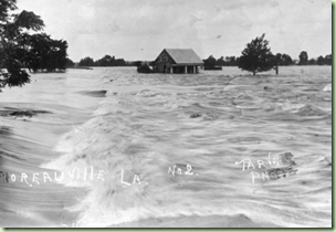 1927 flood at Moreauville