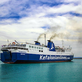 Ferryboat to Zante by Marius Turc - Transportation Boats (  )