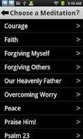 Screenshot of 5-Minute Christian Meditation