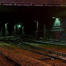 Underground by Antonio Sunara - City,  Street & Park  Night ( urban, railway, croatia, split, underground )