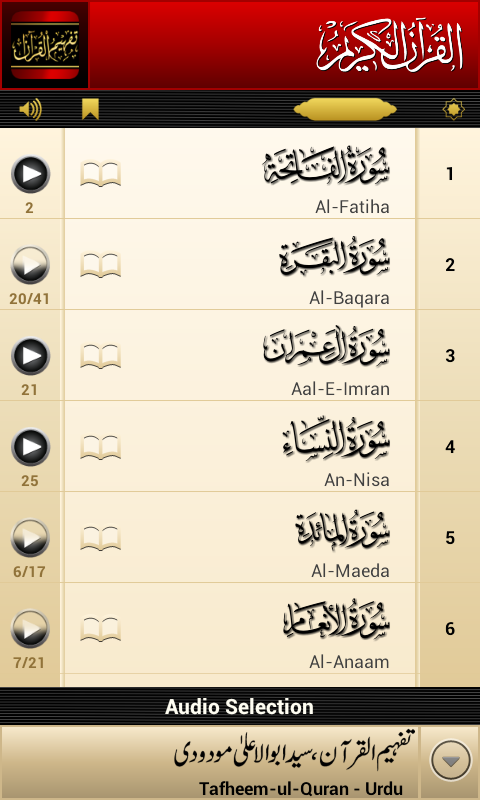 Tafheem-ul-Quran Screenshot 1