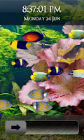 Screenshot of Fish Aquarium Lock Screen