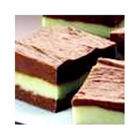 Layered Mint Chocolate Fudge
