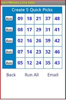 Screenshot of Euro Millions Lotto Suite