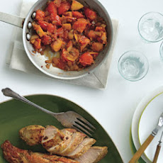 Pork Tenderloin with Tomato-Peach Compote