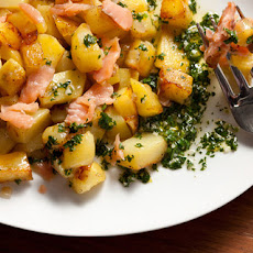 Smoked Salmon Hash with Lemon-Parsley Vinaigrette Recipe