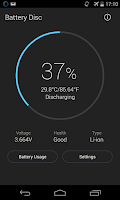 Screenshot of Beautiful Battery Disc