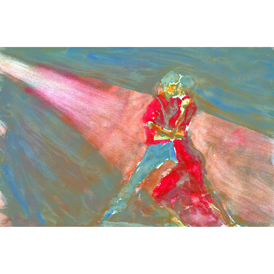 Tango dance art painting dance original watercolour