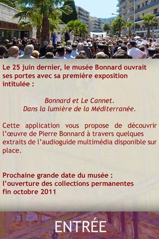 Musée Bonnard : Inauguration