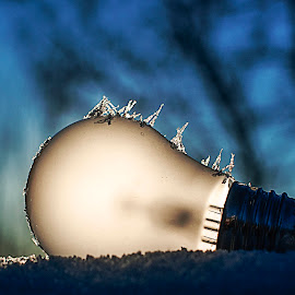 Natural energy by Tom Egil Dørum - Artistic Objects Technology Objects ( crystals, lightbulb, technology, blue, ice, sunset, snow, artistic, sun, energy )