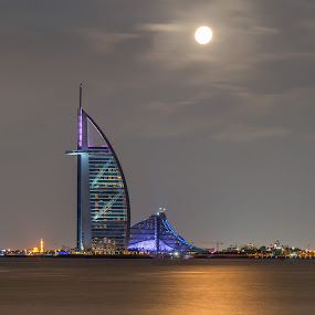Full Moon Night by Walid Ahmad - Buildings & Architecture Public & Historical ( dubai, photography )