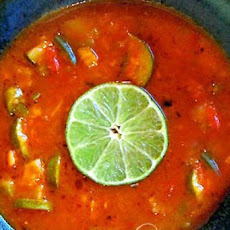 Fresh Vegetable Soup with Lime