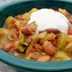 Spicy Crock Pot Pinto Bean Chili