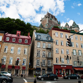 Old Quebec city by Bruno Gallant - City,  Street & Park  Historic Districts ( old, quebec, street, chateau frontenac, quebec city )