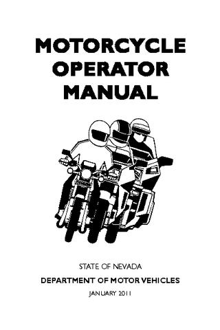Nevada Motorcycle Manual