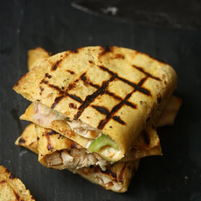 Grilled Buffalo Chicken Quesadillas
