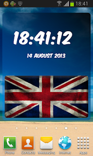 UK Digital Clock - screenshot