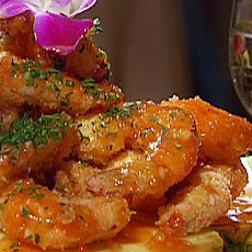 Coconut MacNut Shrimp with Guava Sweet and Sour Sauce