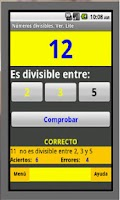 Screenshot of Números Divisibles