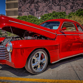 Blacktop Nationals - Red Cruizer by Ron Meyers - Transportation Automobiles