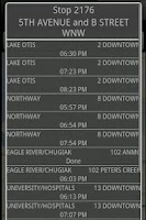 Screenshot of Anchorage Bus Times