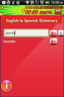 Screenshot of English to Spanish Dictionary