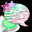 GO SMS THEME/ZebraStars icon