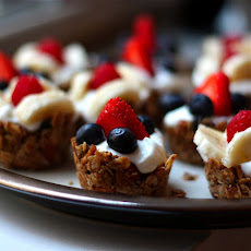 Mini Granola Cups with Greek Yogurt and Berries