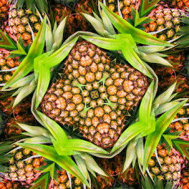 Pineapple by Joanne West - Abstract Patterns