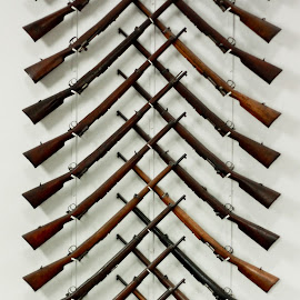 Gun Rack by John Cooper - Abstract Patterns ( leeds, guns, pattern, royal armouries, rack, gun rack )