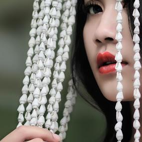 thank you 2013 by Sesar Arief - People Portraits of Women ( breathe, woman, lips, lovin, me,  )