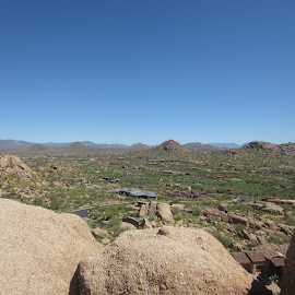 Pinnacle Peak Trail, AZ by Wendy Schultz - Landscapes Deserts