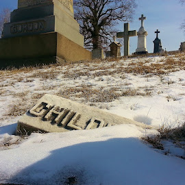 Fallen Headstone  by Shannon McHale - Buildings & Architecture Statues & Monuments
