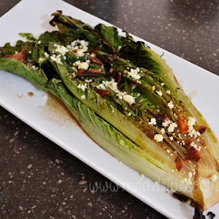Grilled Lettuce with Cotija Cheese