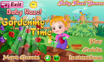 Screenshot of Baby Hazel Gardening Time